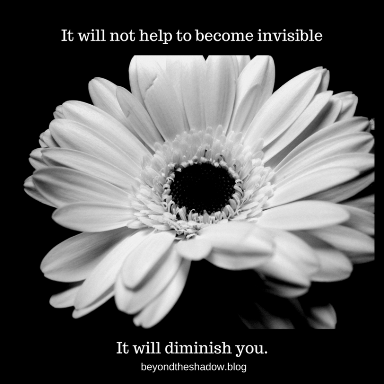 It will not help to become invisible